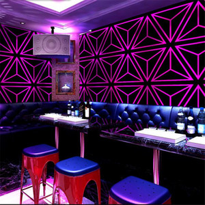 Creative KTV fondo de pantalla Karaoke Hall Flashing Wall Covering 3D Reflective Specal Bar Theme Box Corridor Hallway