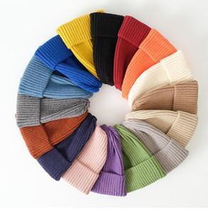 2020 New Womens Beanie Hat warm Autumn Women Wool Knit Beanie Hat Cuff Watch Cap for Girls Spring Skull Hats for Female