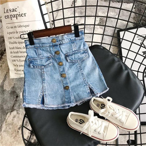 Wholesale Korean INS Kids Girls Denim Shorts Unisex Spring Summer Princess Pants for 3-10T