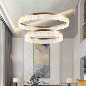 Modern Simple Chandelier Ring Resin Lampshade Restaurant Study Bar Home Nordic Atmosphere Round Ring Light Luxury Lamps