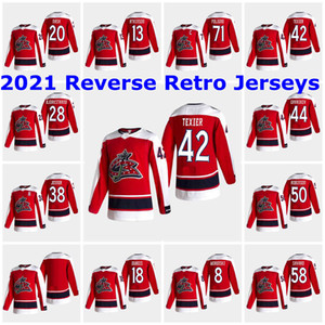Columbus Blue Jackets 2021 Обратная ретроприки Макс Max Domi Jersey Pierre-Luc Dubois Seth Jones Nick Foligno Cam Atkinson Custom Shifted