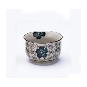 Vajilla de cerámica pintada a mano. Tazón de sopa de arroz de estilo japonés PORC JLLDZX XHHAIR