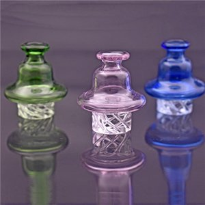 Hot sale Glass Bubble Carb Cap colorful Cyclone Spinning carb caps for 25mm quartz banger Nails for dab oil rig bongs