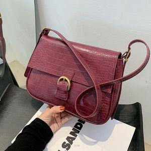 Crocodile pattern Square Crossbody bag 2020 New Quality PU Leather Women's Designer Handbag High capacity Shoulder Messenger Bag
