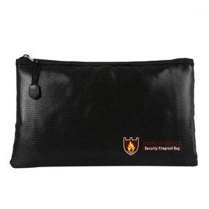 Fireproof money وثيقة ملف حقيبة حقيبة مكتب حقيبة الأعمال النقدية بطاقة بنك جواز سفر المواد الثمينة التخزين الآمن للمنزل مكتب 1