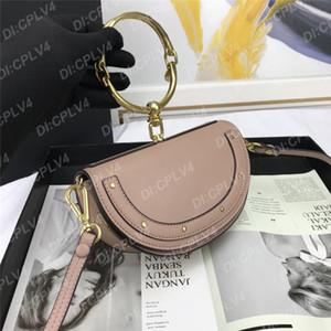 yarım ay torbaları Portatif Tek Omuz Messenger çanta kadın çantası toka Perçin hilal çanta boş moda metal halka