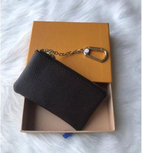 2021 Женский ключевой кошелек ключ сумка сумка шарм известный моно грамм холст коричневый белый клетчатый ключ нет коробки # rr43we