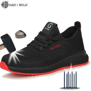Sapatos de segurança com homens dedo do pé dos homens imortal indestrutível Ryder Sapatilhas respiráveis sapatos sapatos com botas de trabalho de toe de aço 20116