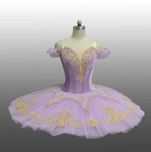 Fairy purple velvet girls classical ballet pancake tutu