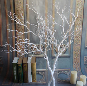 1PCS Artificial Black White Tree Branches Plastic Coral Artificial Flowers for Home Wedding Decorative Dried Tree Branches H90CM Z1120