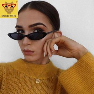 Vintage Women Small Oval Sunglasses Cat eye Eyewear Brand Designer Retro Tiny Oval Sunglass Female Sun glasses Goggles
