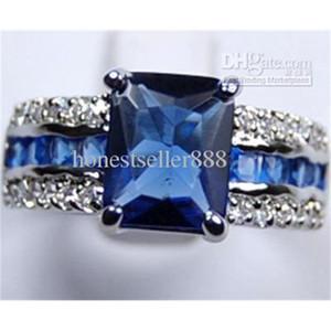 FactoryZKWSGenuine Blue Tourmaline Tanzanite Silver Ring Sz:7 8 9