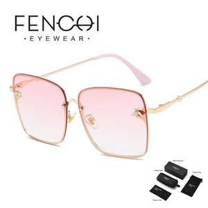 Óculos de sol Anti-azul rosa de grandes dimensões de abelha enorme 2021 designer vintage sexy condução sol óculos zonnebril dama