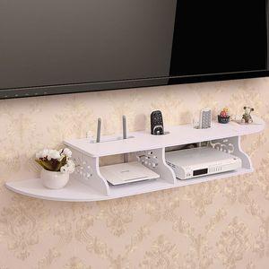 Multifunction Home TV Cabinet Set Wireless Wifi Router Bracket Storage Box Wall Hanging Carrier Storage Shelf TV Top Box Shelf Z1123