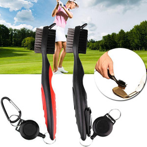 Golfer Putter Ball Cleaner Golf Club Brush Groove Cleaner with Retractable Zip-line and Steel Carabiner Cleaning Tool Kit