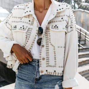 Trendy Rivet Lapel Single-Breasted Jacket