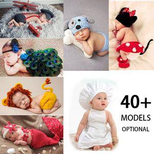 Crothet Newborn Photography Photography Реквизирует вязаные фотографии аксессуары Baby Boys Girls Costume Newborn Photograme 42 Модель Дополнительно Q1222