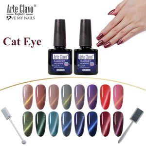 Arte Clavo Nail Gel Polish Cat Eye Lacquer Enamel Semi permanent Magnetic Soak Off Nails Gel Varnish Nail Art Manicure Gelpolish