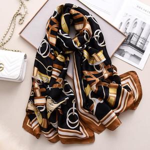New style Autumn winter women Popular print silk muffler lady nice flower scarves quality luxury shawl beach wrap hijab muffler