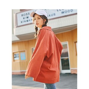 Spring Autumn Turn Down Collar Loose Style One Button Women Short Jacket Coat Drop Shipping Good Quality