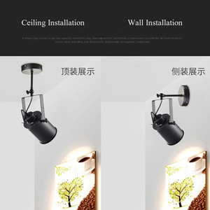 Long Arm Adjustable E27 Wall Lamp Nordic wall Light LED Ceiling installation saconces Lights for Home Bedside Clothing shop