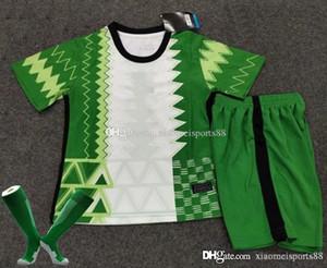 20 21 Kit Kit Kit Jersey Jersey 2020 2021 Accueil N ° 10 Okocha Soccer Shirt Ahmed Musa Mikel Iheanacho Enfant Football Uniforme
