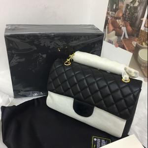 Bolso de canal Moda clásica Moda Bolsa de mujer Diseñador de marca Bolsa de flecos Bolsa de cuero genuino Lady Hombro CC Caja de lujo