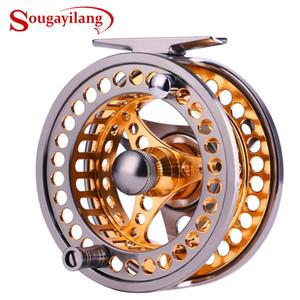 Sougayilang Barra de pesca con mosca Cebo grande 2 + 1 bb con cuerpo de aleación de aluminio mecanizado CNC y carretes de mosca de carrete Z1128