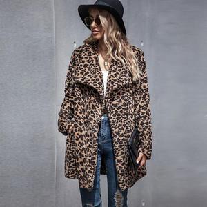 European and American women's faux fur coat women's 2020 new autumn and winter long woolen coat