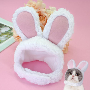 Funny Pet Cat Kitten Cosplay Costume Rabbit Hat Cap Cute Cat Halloween Christmas Clothing Hats Small Dogs Acc wmtMtN