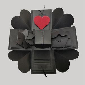 اليدوية المفاجئة حزب حزب انفجار مربع هدية انفجار للذكرى القصاصات diy ألبوم الصور عيد الميلاد هدية KKE2942
