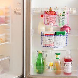 New Kitchen Refrigerator Hanging Storage Bag Food Organizer Fridge Mesh Holder for Vegetable Fruit Snack