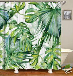 OLOEY Shower Curtains Waterproof Plant 3D Print Curtains for Bathroom Fabric Curtains Customized Bath Decor Q1127
