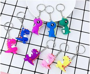 Fashion 3D Cartoon Dinosaur Baby Cute Keychain Jewelry Bag Car Pendant Keyring Accessories For Women Child Gift