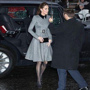 Kate Middleton High Quality Autumn Winter New Women'S Black Lapel Stitching Elegant Belt Slim Party Fashion Dress
