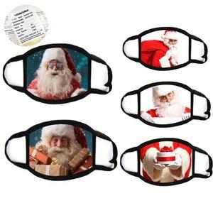 Noel Yüz Maskeleri Yetişkin Moda Yüz Maskesi Noel Baba Kar Tanesi Hayvan Yağlıboya 3D Maskeleri Toz Geçirmez Xmas Parti Maskeleri GWC3836