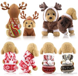 Pet Dog Santa Costumes Christmas Dressing Coats Decoration Clothes for Pet Hoodies Puppy Cats Free Shipping