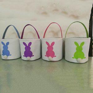 INS Burlap Easter Bunny Baskets DIY Rabbit Bags Bunny Storage Bag Jute Rabbit Ears Basket Easter Gift Bag Rabbit Ears Put Easter Eggs W95955