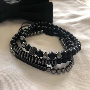 Norooni 3pcs set Uxury Fashion Crown Charm Bracelet Natural Stone For Women And Mens Pulseras Masculina Gifts Gift . .