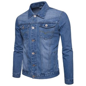 2020 Spring And Autumn New Style England Elegant Men Cowboy Large Size Jacket Single Breasted Solid Color Youth Coat