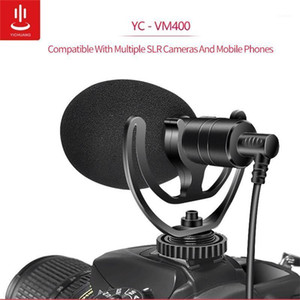 YC-VM400 Cardioid Shotgun Microphone 3.5mm Headphone TRS TRRS Output for Smartphone Tablets DSLR Consumer Camcorder PC1