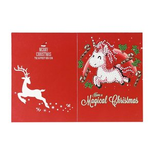 Cartoon Greeting Card Diamond Painting Embroidery Holiday 5D Decoration Gift Handmade Christmas DIY