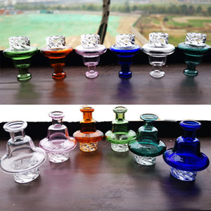 Cyclone Riptide Spinning Carb Cap For 2mm Banger With 25mm Bowl Great Air Flow GLass Dome Dab Rigs Assorted Color