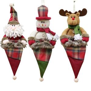 Christmas Hat Shape Christmas Stockings Children Large Candy Bags Gift Bag Xmas Tree Hanging Ornament Socks Christmas Decoration IIF31