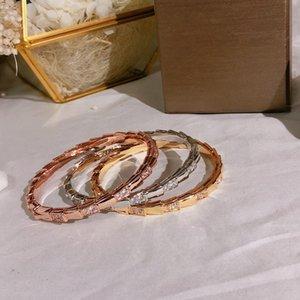 Venta caliente New Snake Forma Noble Temperamento Pulsera Lujosa Moda Personalidad de alta calidad Pulsera de ladrillo de calidad francesa