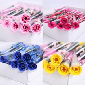 Creativo Sapone Flower Multi Color Rose Decorations Single Forniture per la casa Funzione DONNA MAN SOAPWORT Valentino Regalo di San Valentino 0 53ry K2
