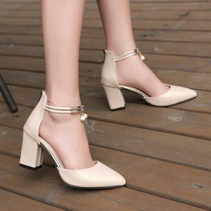 Summer Women Shoes Pointed Toe PumpsDress High Heels Boat Wedding Tenis Feminino Side With Sandals Zapatos Mujer Wedding 896