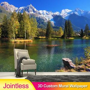 Sweetbless Forese Lake Moutain Натуральный пейзаж 3d росписи обои гостиная спальня диван телевизор стены украшения дома