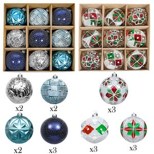 10cm Christmas Balls Ornaments Big Xmas Tree Shatterproof Hanging Balls Decoration for Hoilday Party Baubles Set Z1128