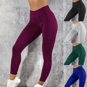 Yoga pants with pockets women sport leggings jogging workout running leggings stretch high elastic gym tights womens legging yoga leggings